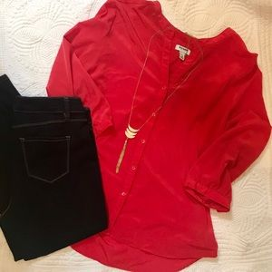 Old Navy Red Button up Blouse